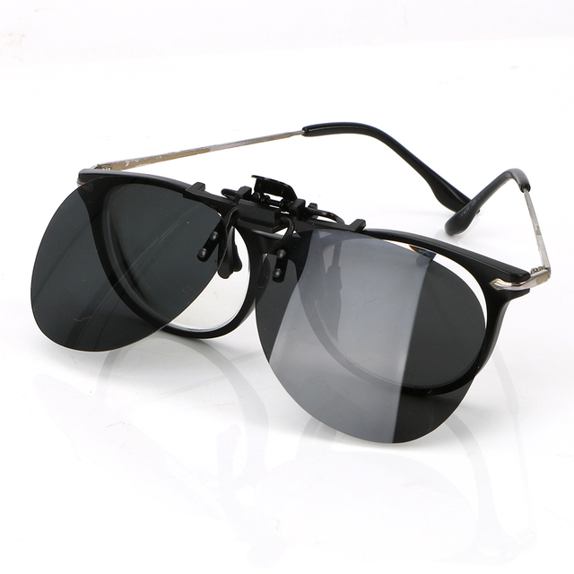 f8e82f7d40b Car Driving Night Vision Lens Anti-UVA UVB Driver Goggles Clip On Sunglasses  Polarized Sun Glasses For Men Women