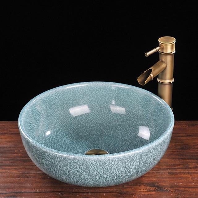 Elegant Jingdezhen Bad Keramik Waschbecken Becken Porzellan Zhler Top Badezimmer Waschkche With