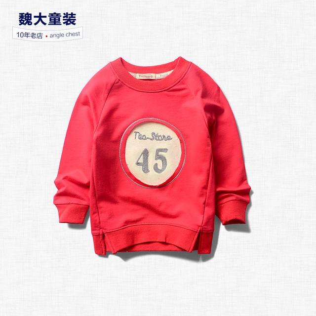 Meninos idade 2017 crianças novas crianças camisola de algodão Pullover camisola de manga comprida T-shirt Coreano baby boom