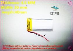 (Frete grátis) (5 peças/lote) bateria de Polímero de íon de lítio 3.7 V, 402040 270 mAh CE FCC ROHS MSDS certificação de qualidade