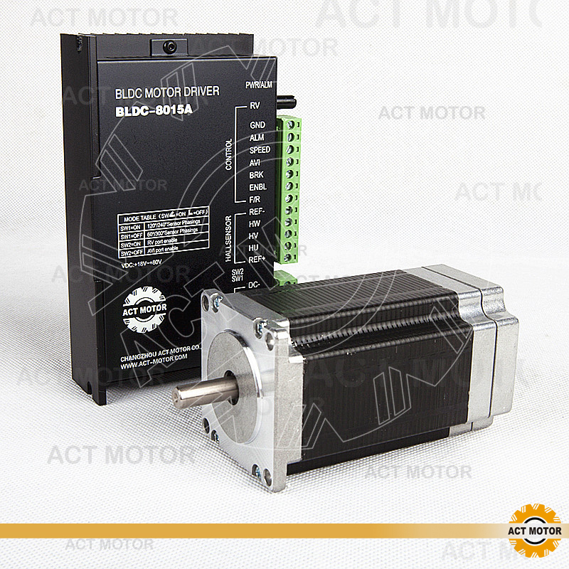 ACT Motor 1PC Nema23 Brushless DC Motor 57BLF03 24V 250W 3000RPM 3Phase Single Shaft+1PC Driver BLDC-8015A 50V US DE UK JP Free cnc dc spindle motor 500w 24v 0 629nm air cooling er11 brushless for diy pcb drilling new 1 year warranty free technical support