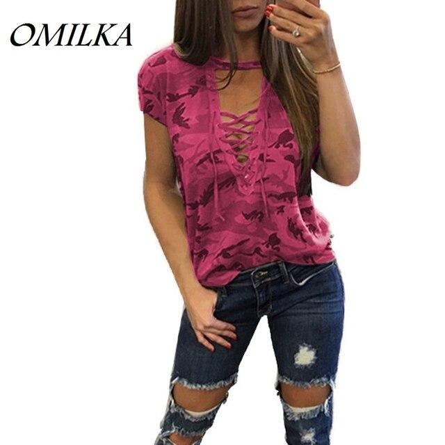 05513228dad755 OMILKA-2017-D-t-Femmes-Camouflage-Imprim-Dentelle-Up-T-Chemises-Casual-rose-Bleu-Vert-Gris.jpg 640x640.jpg