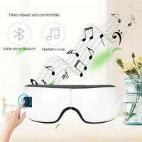 Wireless Eye Massage Glasses USB Charging Eye Massager Hot Compress Air Pressure Eye Massager 180 Foldable Music Function 35