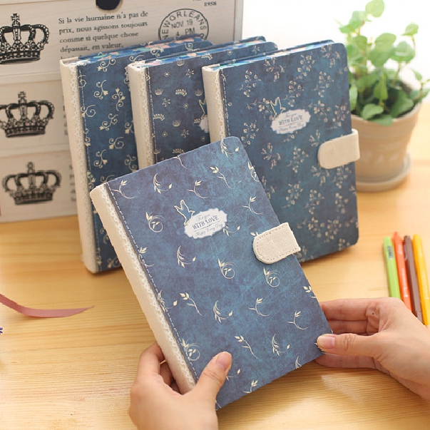 Hot Sale Retro Old Style Romatic Floral Hasp Diary Journal Buckle Latch Book Handcpver Delicate Notebook Sketchbook Memobook hot sale original jackie chan s first autobiography getting old before growing jackie chan romantic loving story chinese book