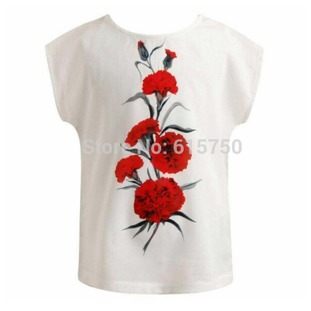 3faef82d8 Kidsalon camisetas para Niñas ropa con cornation flor impreso camiseta  infantil Menino niños Camisetas bebé Niñas Tops