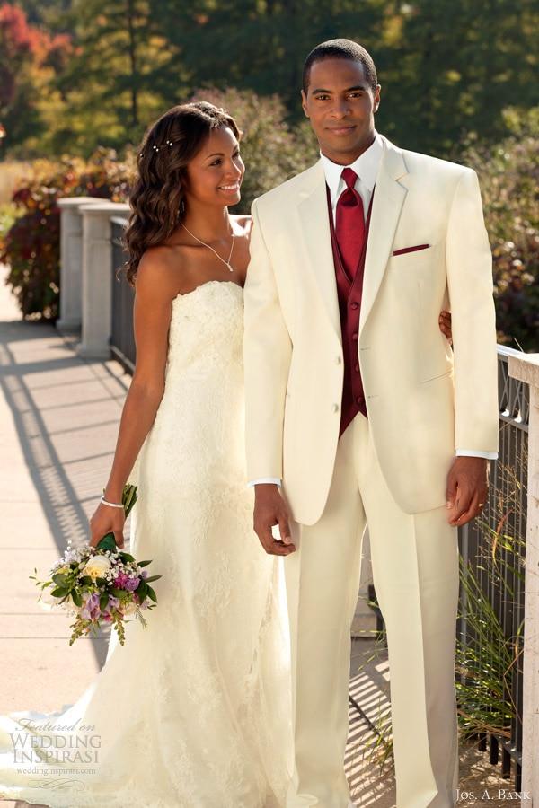 New 2017 Beige Men Suits Wedding Tuxedos For Men Custom Made Mens ...