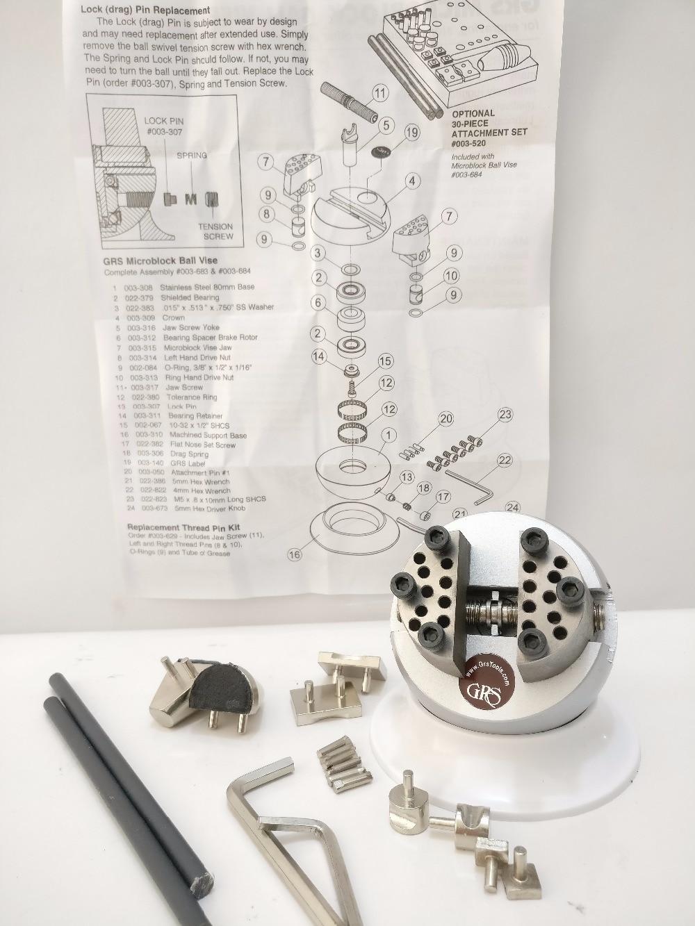 Mini Engraving Ball Vise GRS Micro Block Ring Setting Tools Diamond Stone Setting Ball Vise jewelery tools goldsmith tool mini setting ball grs block ball vise engraving block mini jewelry machine tools & equ