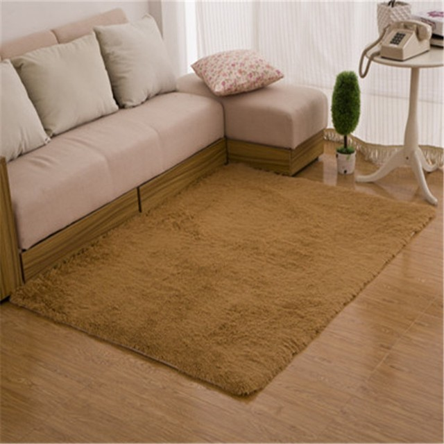 hairy floor carpet fur plain fluffy area rugs bedroom living room home decoration faux mat washable - Bedroom Floor Carpet