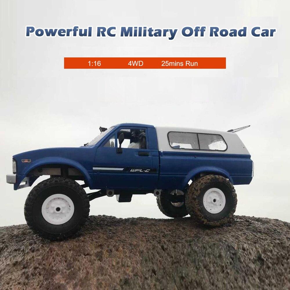 WPL C24 RC Car 1:16 4WD Radio Control Off-Road Mini Car RTR Rock Crawler Electric Buggy Moving Machine RC Cars Kids Play Car