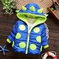 Теплая Зима Детские Мальчики Девочки Парки Прекрасный Dot Pattern Верхняя Одежда Толстовки Плюс Бархат Сгущает Пальто Верхняя Одежда Парки