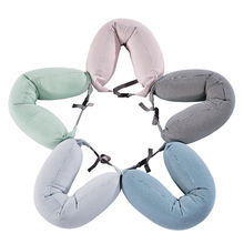 Memory Foam U Shaped Neck Pillow cotton soft travel neck pillow pillowcase For Adults in Airplane Car Office almohada cervical travel pil gel mf langria u shaped memory foam travel neck pillow with cooling gel technology for airplane car train home office napping reading and leisure