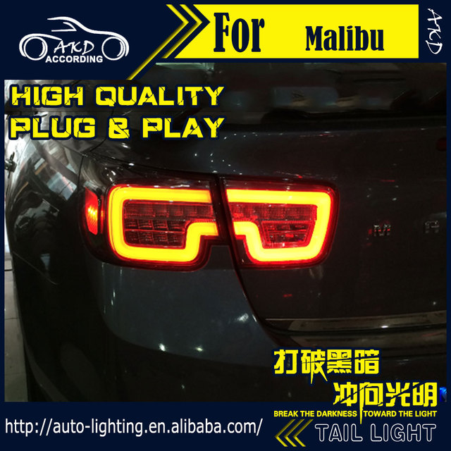 akd car styling tail lamp for chevrolet malibu tail lights 2012-2015 led tail  light signal led drl stop rear lamp accessories