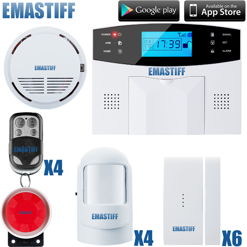 Promotion for English/ Russian/French/ Spanish Voice Wireless GSM Alarm System Dual Antenna Alarm Systems Security Home Alarm wireless smoke fire detector for wireless for touch keypad panel wifi gsm home security burglar voice alarm system