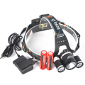 6000 Lumen 3x XM-L T6 LED Head Flashlight Bike Headlamp 4Mode Linternas Frontales Cabeza Headlamp+Usb/Ac Charger+18650 Battery