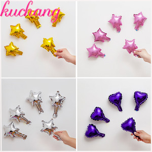 Image 2 - Wholesale 10pcs/lot 5inch star balloon multicolour cute star foil ballon for happy birthday decoration wedding party supplies