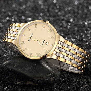 Luxury Men's  Full Steel Diamond Quartz Watch
