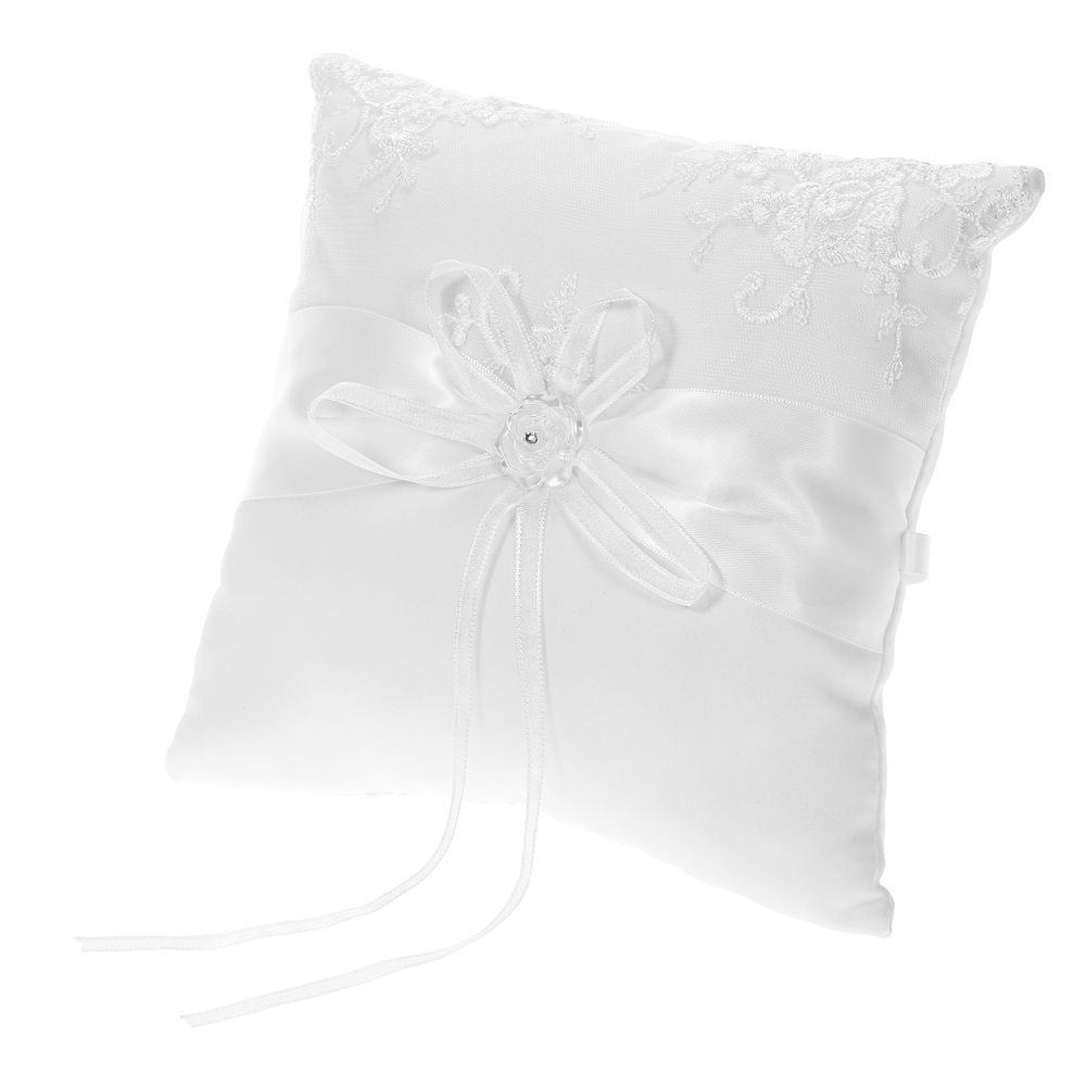 with tulle burlap ring pin button and pillow rhinestone
