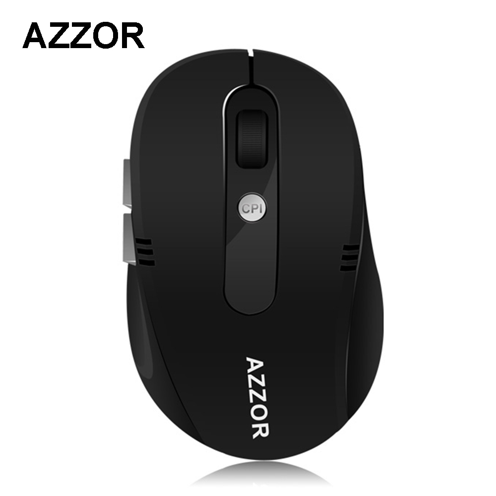 AZZOR S5 Rechargeable Wireless Mute Mini Mouse with USB Charging Cable 2.4GHz 2400 DPI S ...