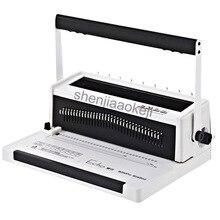 A4 size iron ring binding machine text tender wire binding machine double coil full pumping knife binding machine   1pc