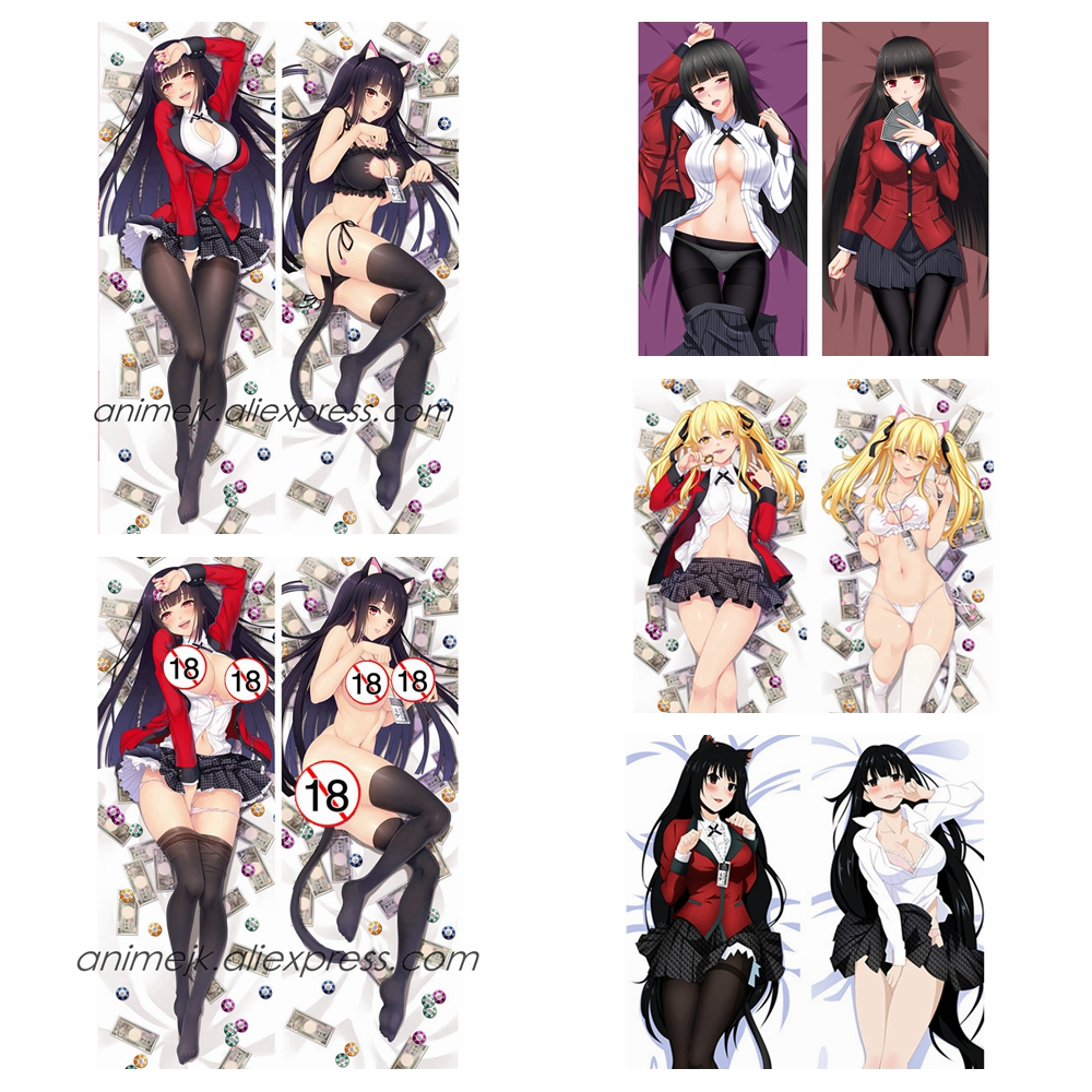 Anime JK Kakegurui: Compulsive Gambler Yumeko Jabami Mary Saotome Dakimakura Body Pillowcase Hug Pillow Cover Case Home Decor