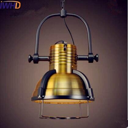 Iwhd Американский Лофт Стиль Винтаж подвесные светильники дома Освещение лампе промышленный светильник hanglamp Lamparas colgantes