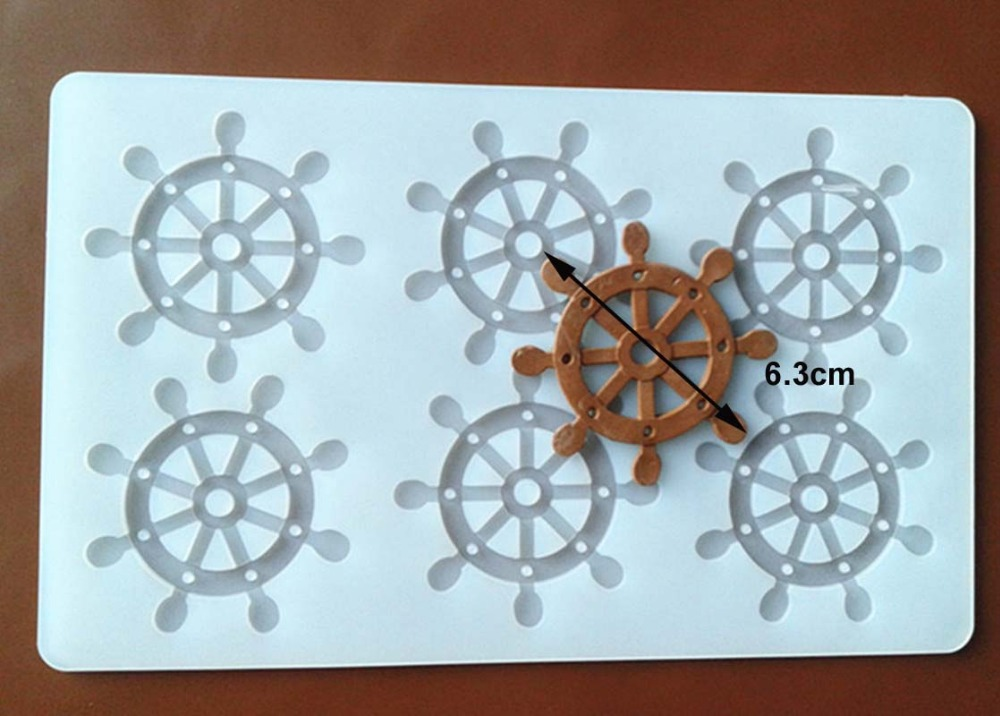 FXC002 6 even Anchor Shape Silicone Chocolate Mold Chocolate Chip Card Cake Decoration Mold