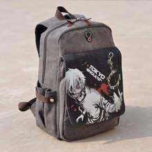 Canvas Kaneki Ken School Bags 2016 Anime Cartoon Tokyo Ghoul Bag Travel Durable Teenager School Tokyo Ghoul Cosplay Backpack