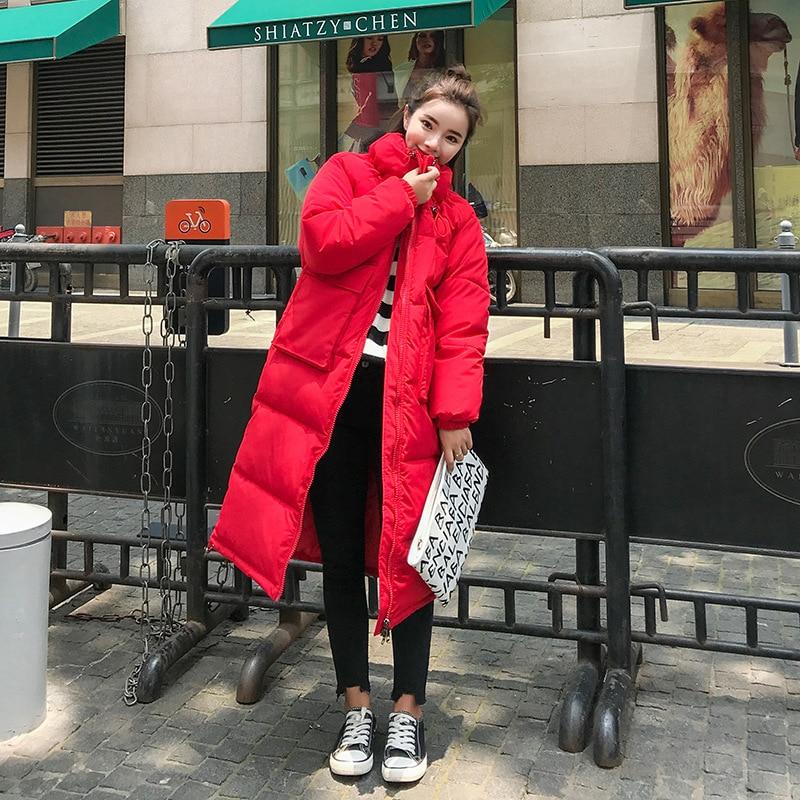 Debout Chaud D'hiver Css194 Longue Épaissir 2018 Paste Manteau Femmes red Mode Vêtements Section Black Coton Europe white Amérique De Col Femme Nouveau bean T8wEpYqY