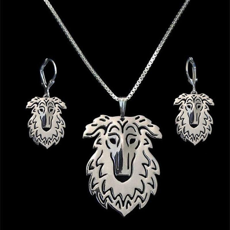 2018 любителей вырез собака форме ювелирных изделий комплект Лидер продаж из металла бор ...