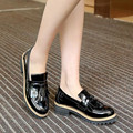 Fashion patent leather tassels Women Shoes black Loafers Flat casual large size Ladies shoes Platform shoes huarche