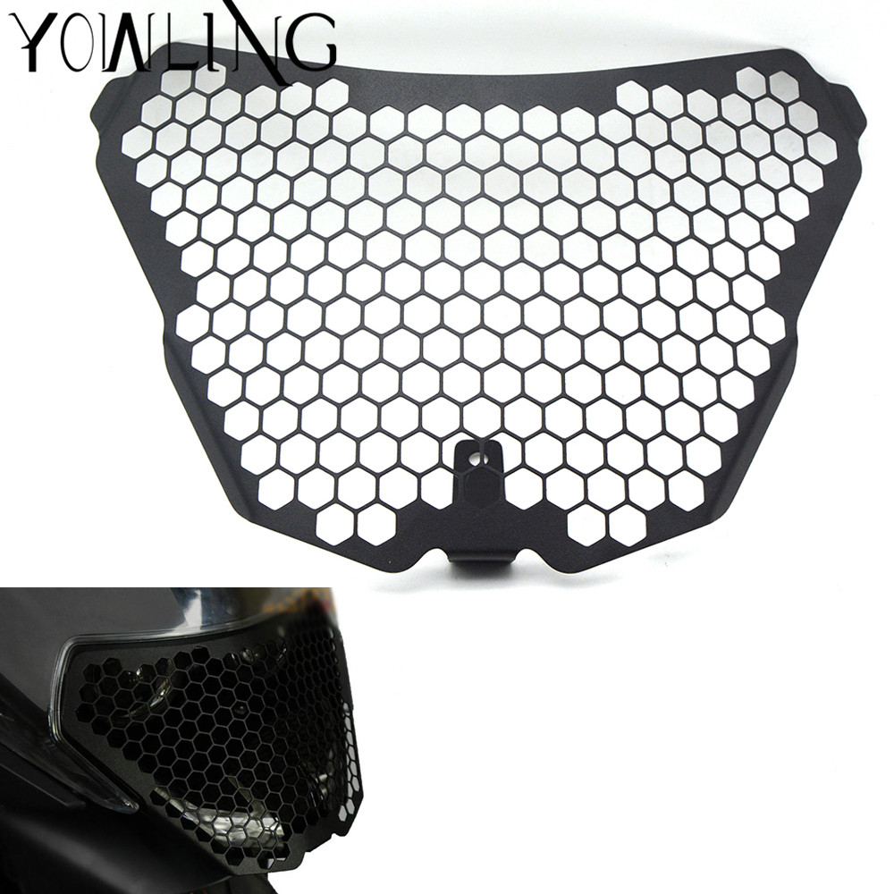 For KTM RC125 RC200 RC390 2014 2015 2016 Motorcycle Headlight Grill Cover Mount Headlight Bracket Cover External Light Lampshade