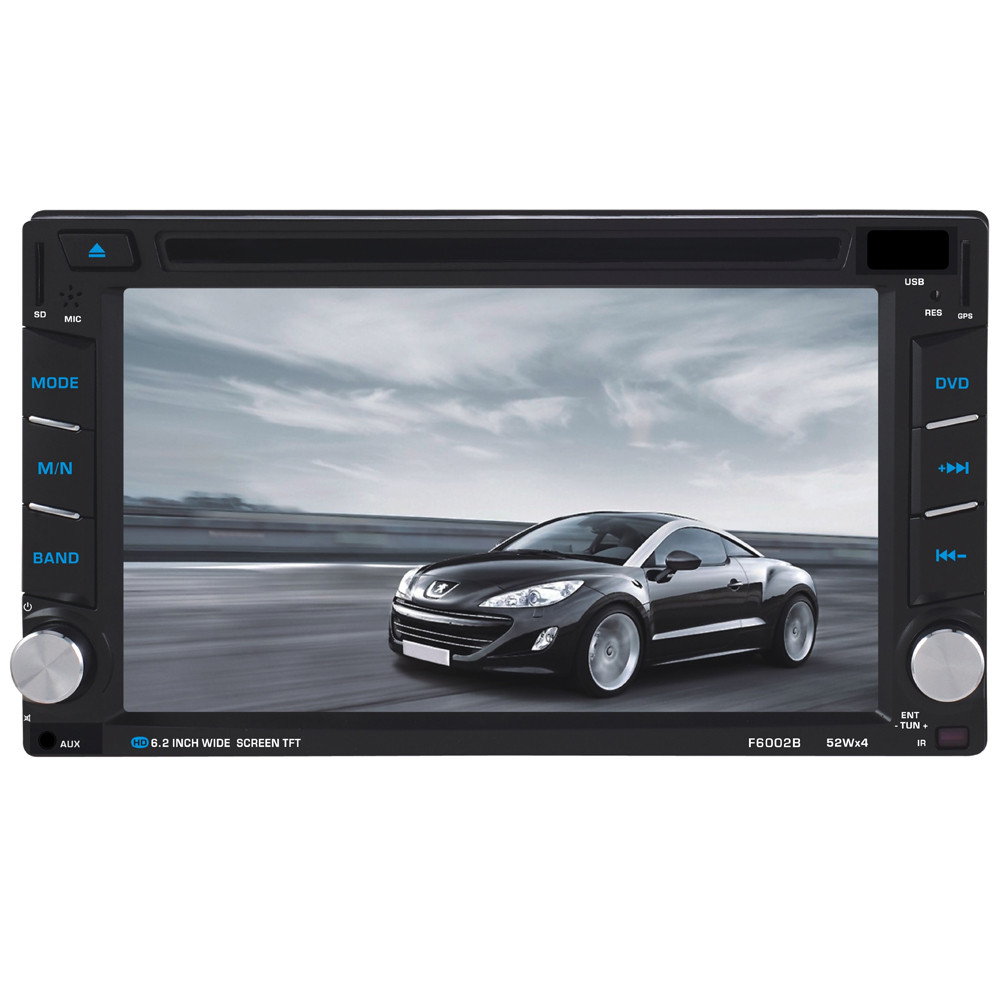 6.5 двойной 2DIN Сенсорный Автомобильный стерео CD DVD плеер Bluetooth USB / памяти SD / АМ-FM TV Радио моды 17Sept14