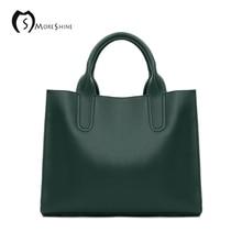 MORESHINE brand Women Genuine Leather Women Bags Shoulder Bag Female Vintage Handbag real leather Messenger Bags For Ladies tote