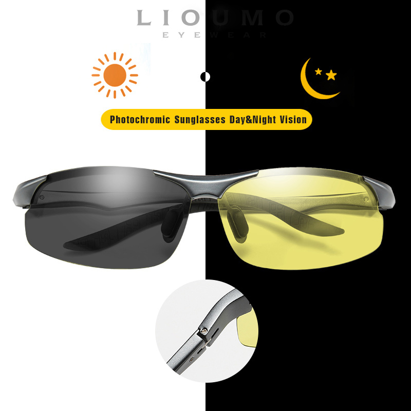 High Quality Day Night Vision Driving Sunglasses Men Women Magnesium Aluminum Frame Polarized Photochromic Lens Glasses Unisex