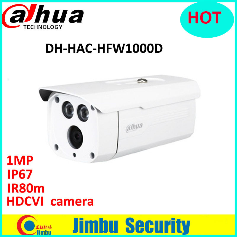 Dahua HDCVI camera 1MP 720P Waterproof IR80m Bullet cctv Camera HAC-HFW1000D M12 HAC-HAC-HFW1000D