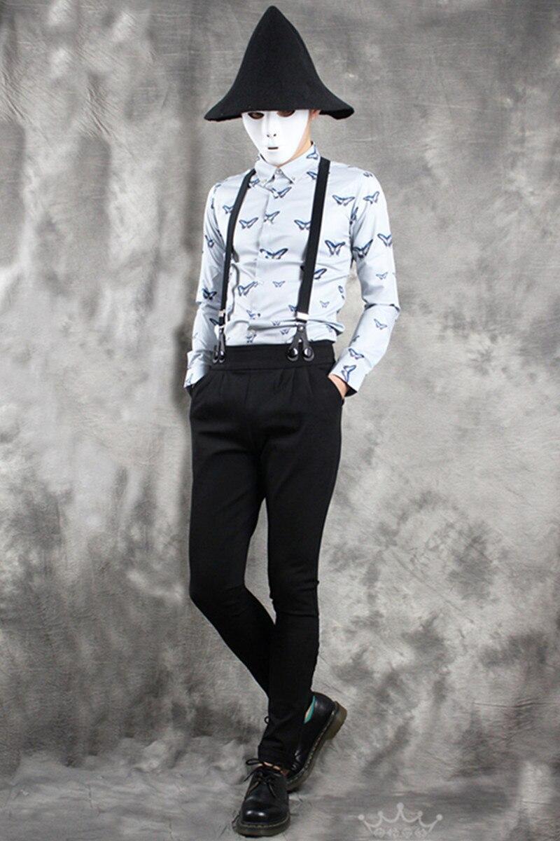 Elásticos Negro 2016 Ropa Cónico Delgados stripe Babero 33 Casual Cantante Tipo 29 Trajes De Pantalones Personalidad Flacos vZ5pxnqwU
