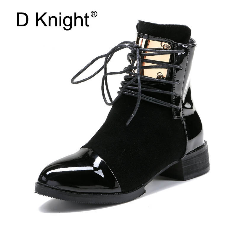 Fashion Women Genuine Leather Flat Ankle Boots Vintage Suede Fur Autumn & Spring Boots For Women Ladies Casual Motorcycle Boots ladies casual lace up flat ankle boots fashion round toe plain cow leather boots for women female genuine leather autumn boots