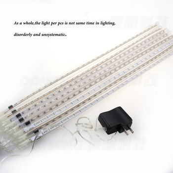 8pc/set 50cm 100-240V EU US Plug snowfall Meteor Shower Rain LED Tube String Light for Festival Wedding Xmas Decoration lamp