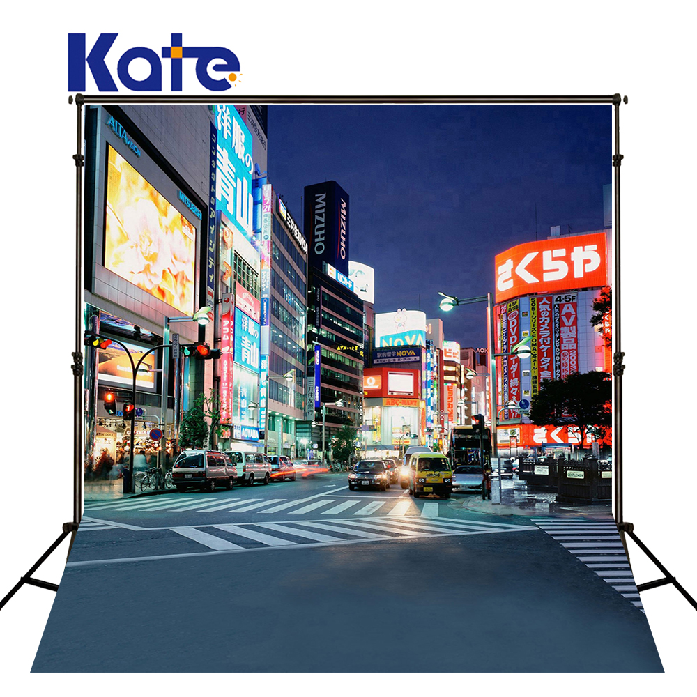 300Cm*200Cm(About 10Ft*6.5Ft)T Background Lights Brightly Lit Night Market Photography Thick Cloth Photography Backdrop <font><b>3082</b></font> Lk image