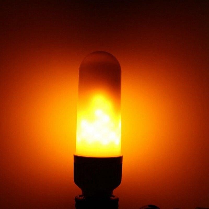 E27 E26 LED Flame Effect Fire Light Bulbs Creative Lights Flickering Emulation Vintage Atmosphere Bar/ Festival Decoration