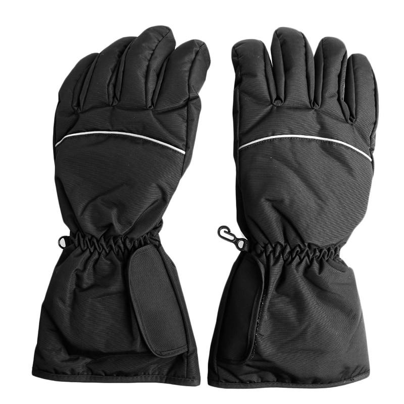 1 par caliente eléctrico impermeable de la motocicleta caliente guantes de batería de la motocicleta para la motocicleta caza al aire libre de invierno caliente de Navidad