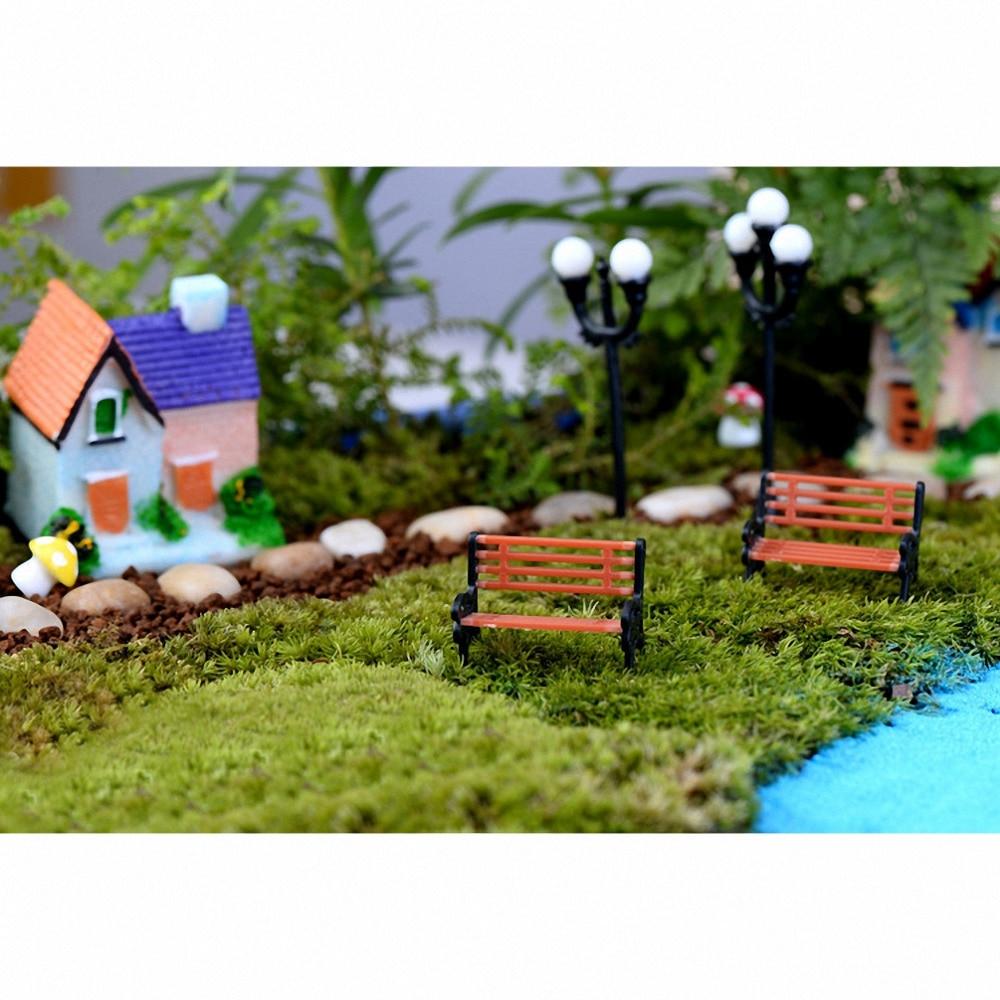 Artificial Park Recliner Chair Mini Craft Miniature Fairy Garden Home Decoration Houses Micro Landscaping Decor DIY Accessories