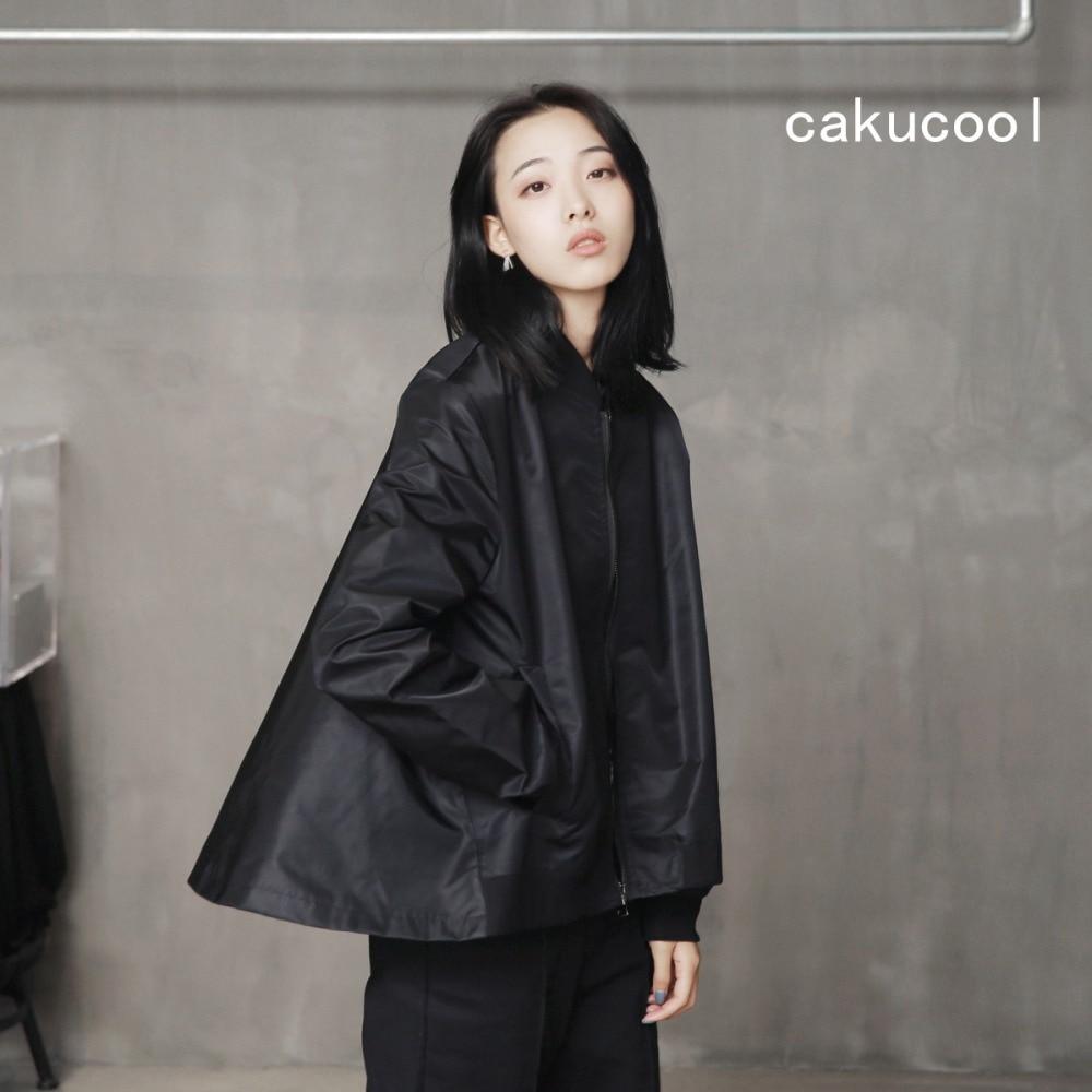 Cakucool Autumn Spring Casual Women Bomber Jacket Coat Harajuku Black SKirt Windbreaker Jacket ladies Outerwear Bomber Jacket