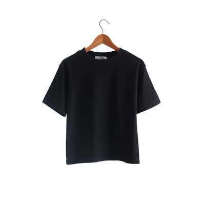 חדש 2019 קיץ מוצק קצר שרוול חולצה נשי מזדמן רופף קוריאני סטודנטים BF כותנה O-צוואר טי חולצה חולצות Femme