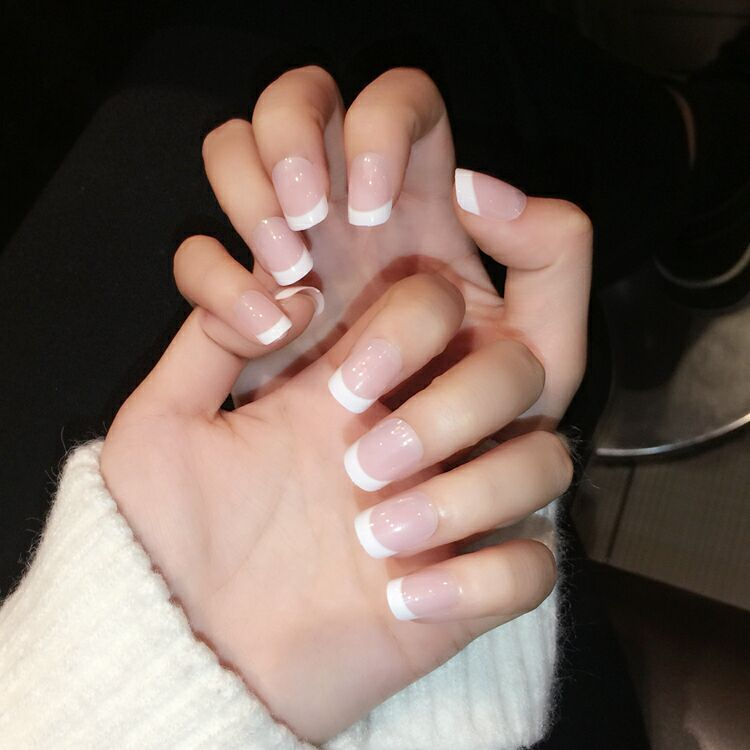 French Manicure Press On Nails | Best Nail Designs 2018