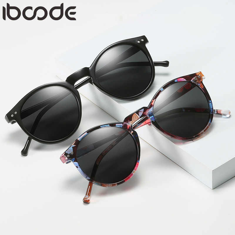 iboode Polarized Sunglasses Men Women Driving Round Frame Sun Glasses Retro Male Female Goggle UV400 Shades Oculos Gafas De Sol