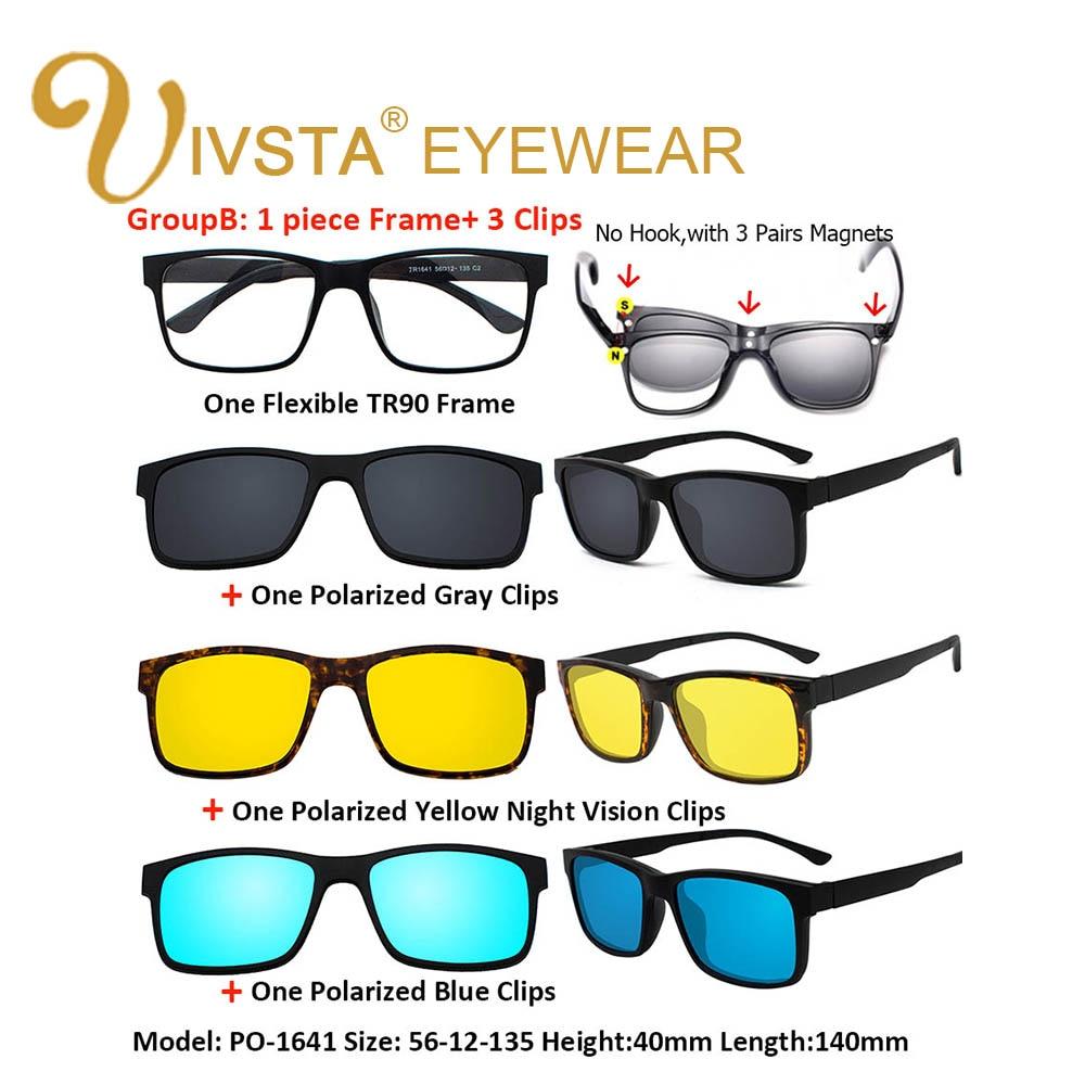 IVSTA 5 Clip On Solglasögon Män Polariserad Magnet Solglasögon - Kläder tillbehör - Foto 4