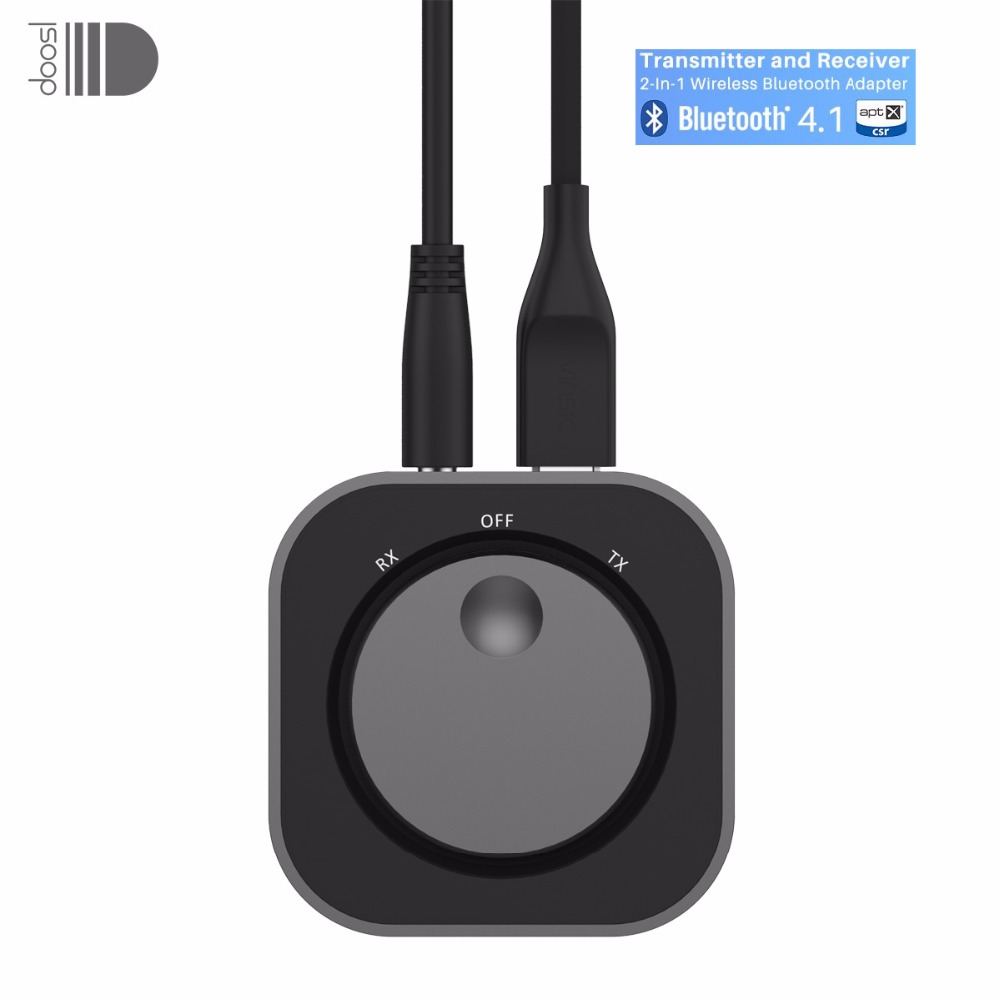 Wholesale Doosl Wireless Audio Bluetooth Receiver& Transmitter Bluetooth Adapter with 3.5MM Audio Input and Output for TV MP3 PC mee audio connect bluetooth wireless hifi hd headphone system t1h1 for tv bluetooth wireless audio transmitter and headset