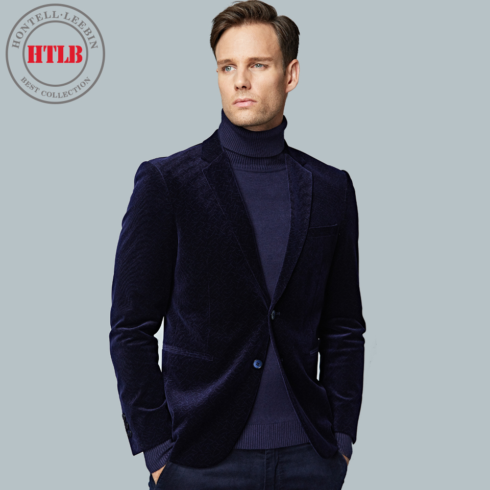 HTLB New Brand England Fashion Men Checked Blazer Suit Jackets ...
