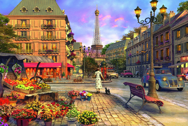 Walking In Paris The Wooden Puzzle 1000 Pieces Ersion Jigsaw Puzzle White Card Adult Children's Educational Toys